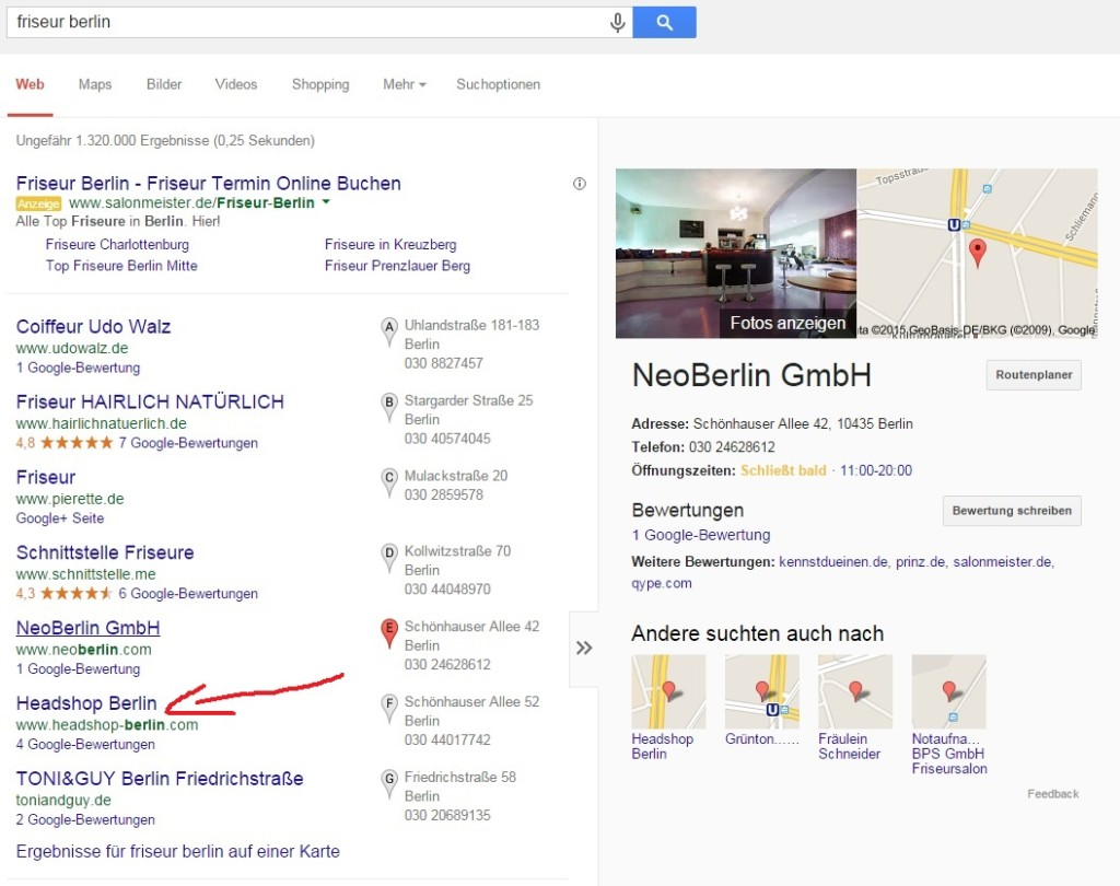 Mehr Sichtbarkeit in Google - Google My Business