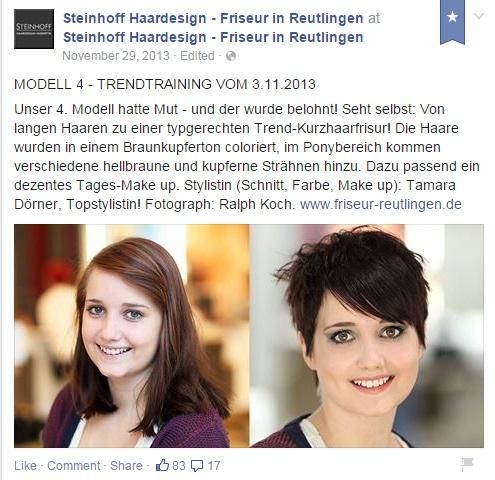 Facebook - Friseur Beispiel Steinhoff Haardesign