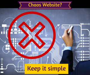 Chaos Website Layout? Keep it simple