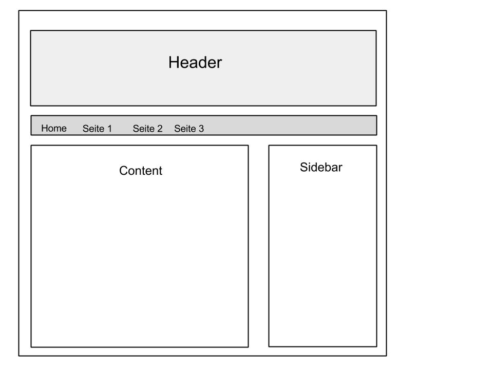 Standard Website Layout Detailseite