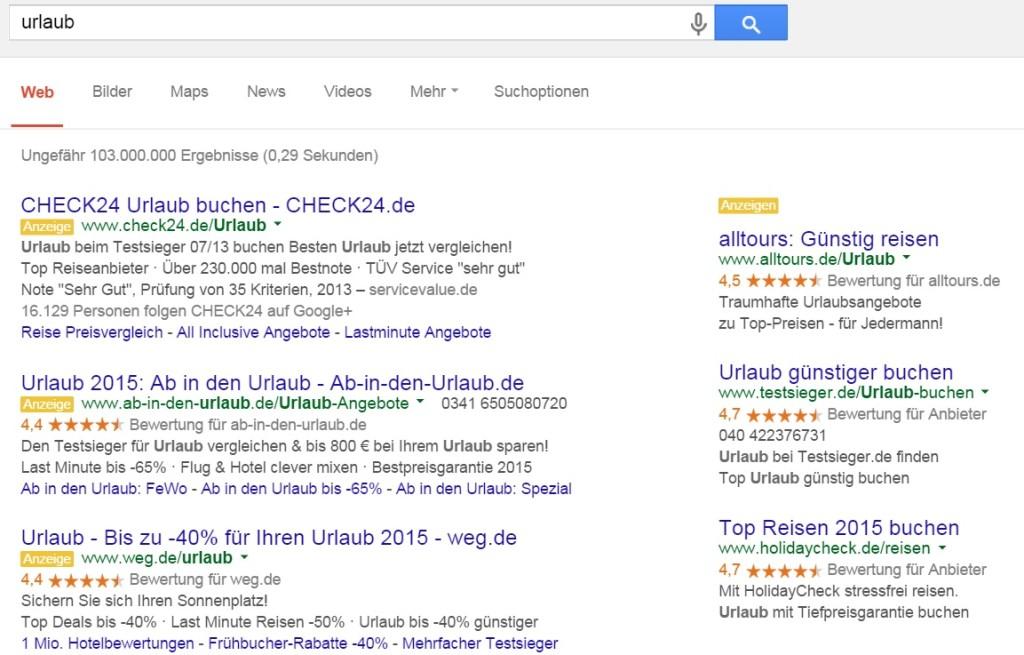 Teure Google AdWords Anzeigen