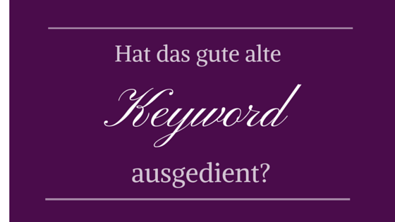 Keywords als SEO Rankingfaktor