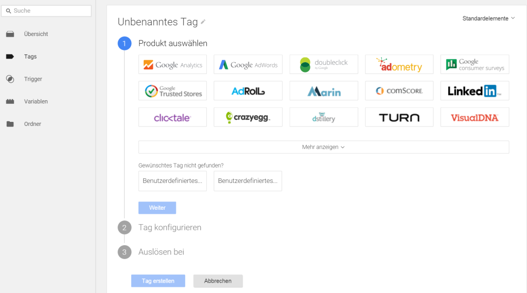 Google Tag Manager Analytics einrichten