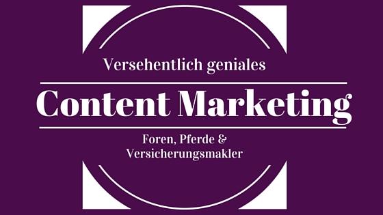 Forenmarketing [Fallbeispiel] – Versehentlich geniales Content Marketing