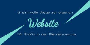 Website erstellen für Pferdebranche und Reitsport